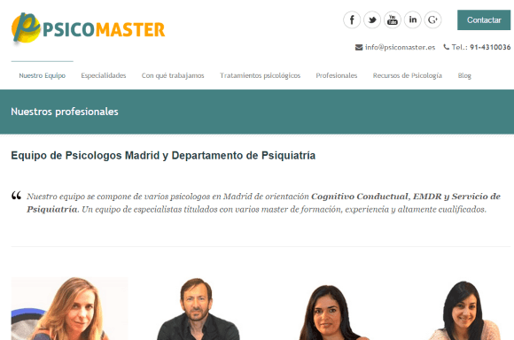 Madrid y psicólogos